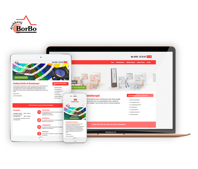 Drukkerij Borbo | Webdesigner Stede Broec | Project Direct | Webdesign Stede Broec | Website bouwen Stede Broec | Wordpress Stede Broec | Grafische vormgever Stede Broec | SEO Stede Broec | Hosting | Wordpress training | Logo design Hoorn | SSL Certificaten | Website onderhoud | Timo van Tilburg
